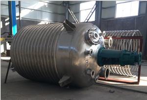 供应二手不锈钢外盘管反应釜